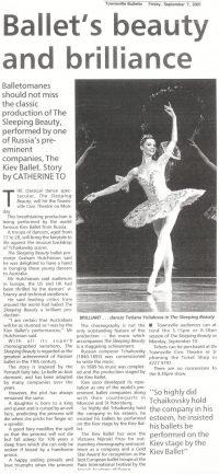 kiev-ballet-Townsville Bulletin-September 7-2001