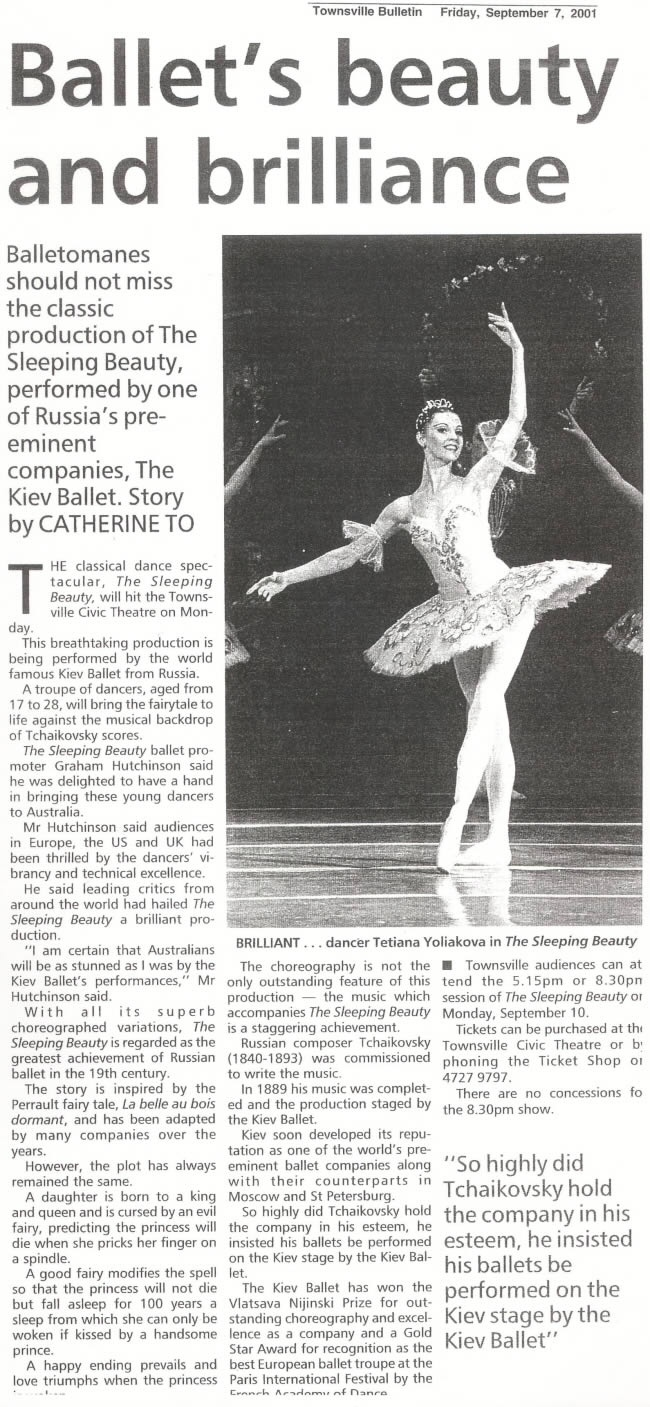 kiev-ballet-Townsville Bulletin-September 7-2001