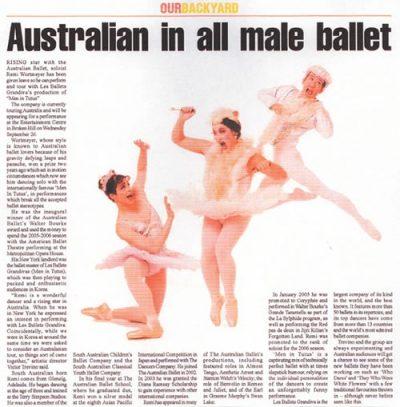 Les Ballet Grandiva's MEN IN TUTUS