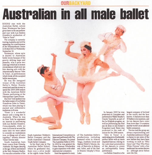 Les Ballet Grandiva's MEN IN TUTUS