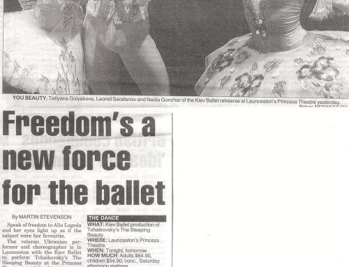 Freedom's a new force for the ballet